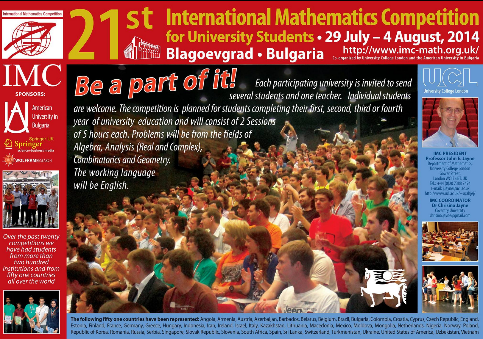 IMC - International Mathematics Competition for University Students