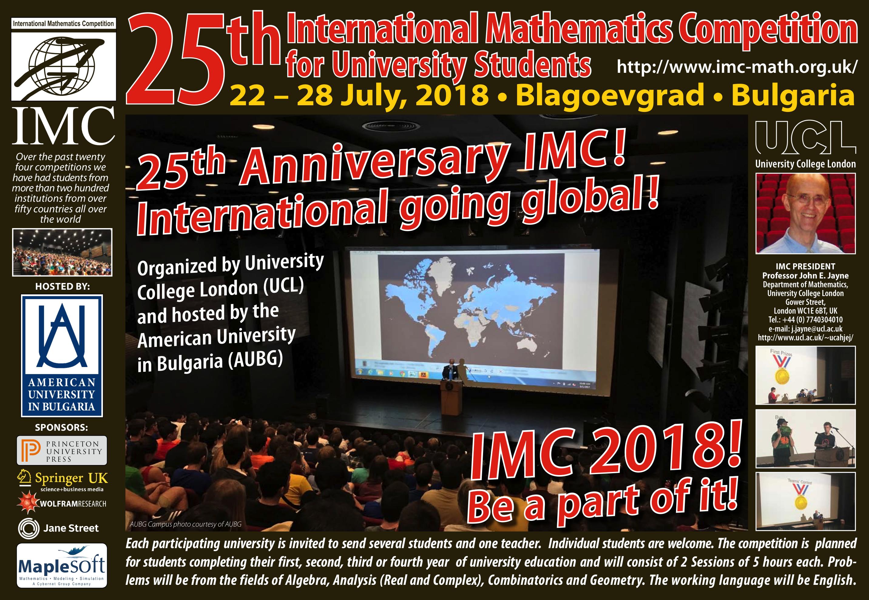 IMC - International Mathematics Competition for University